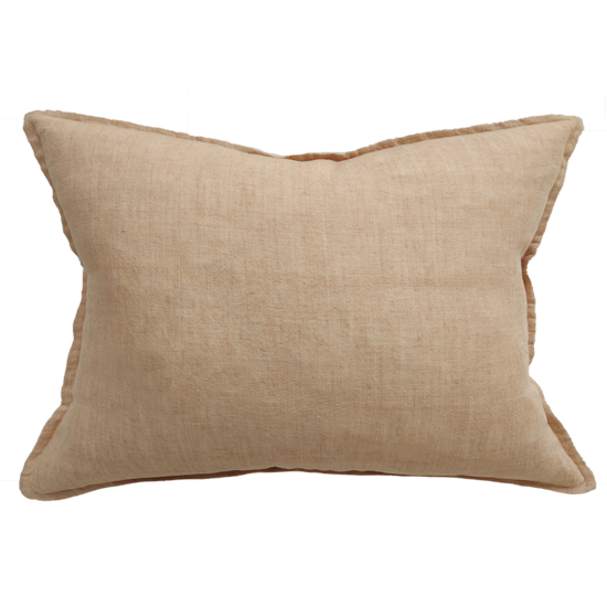 Arcadia Cushion with Feather Inner Toasted Coconut