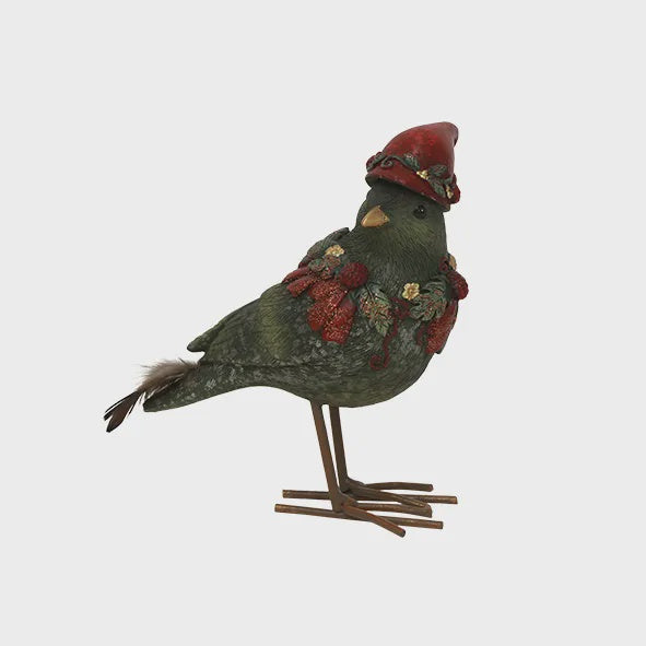 Green Robin with Hat