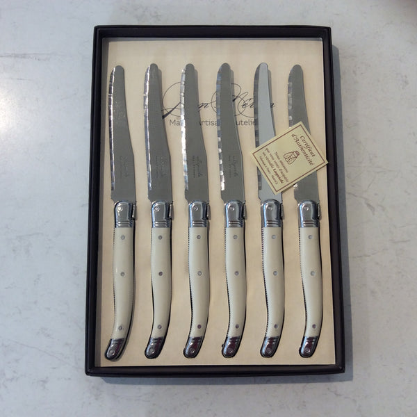 Laguoile Round Table Knives Set/6 Ivory