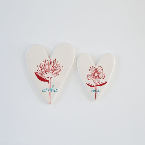 Aroha & Flowers Hearts Set/2
