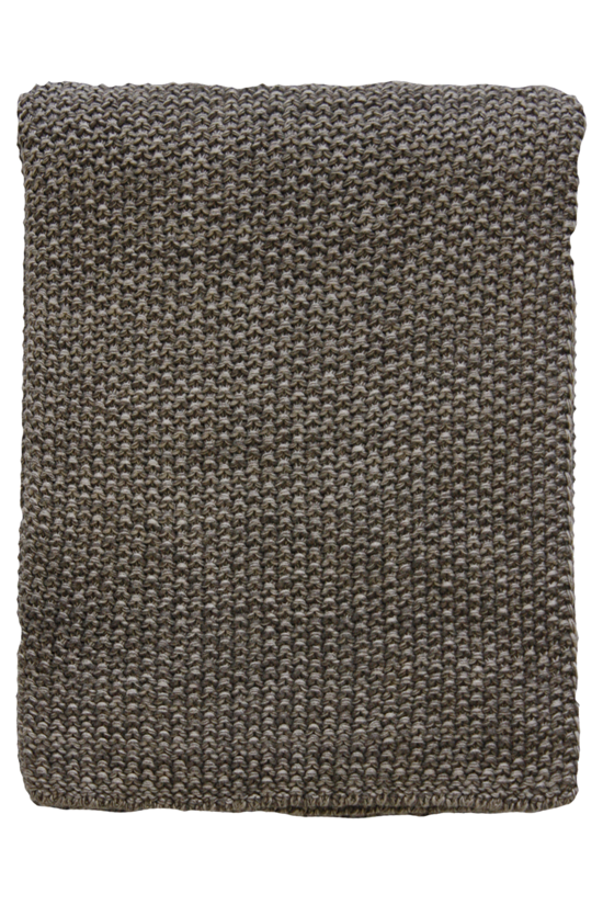 Milford Moss Stitch Cotton Throw - Bracken