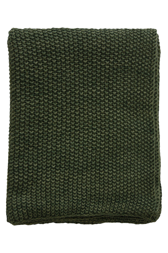 Milford Moss Stitch Cotton Throw -Spruce