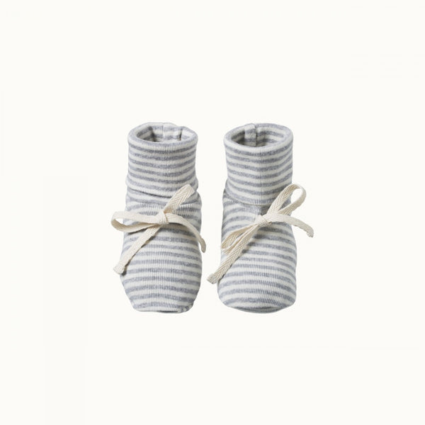 Booties Grey Marl Stripe 0-3M