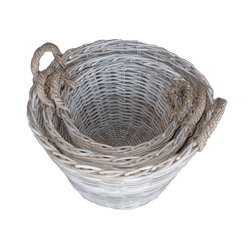 Round Log Basket Small