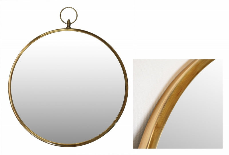 Wall Mirror in Brass Finish