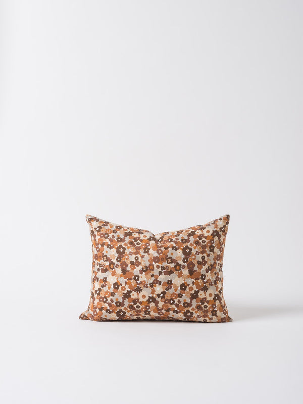 Daisy Cushion Cover Chocolate/Multi