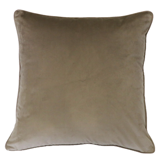 Quattro Cushion with Feather Inner - Truffle
