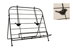 Iron Book Holder with Bird Weights
