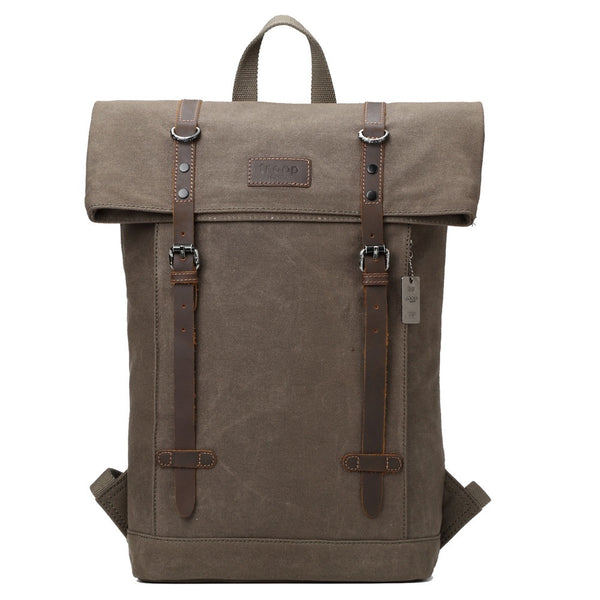 Edison Waxed Canvas Backpack - Olive