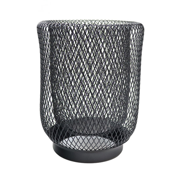 Iron Mesh Lantern Black Small