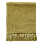 Indira Linen Throw - Ochre 130x170cm
