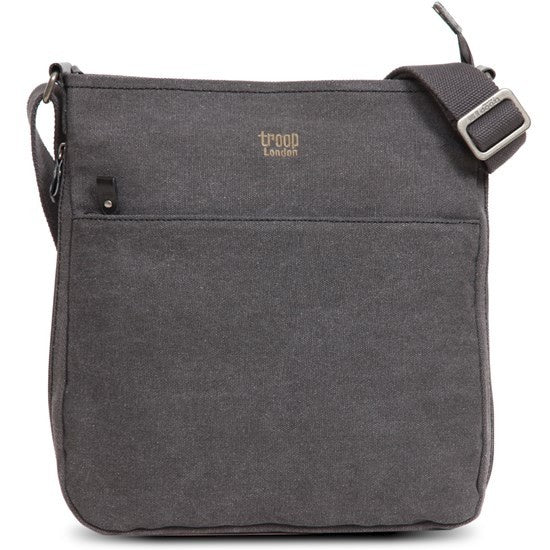 Classic Zip Top Shoulder Bag - Black