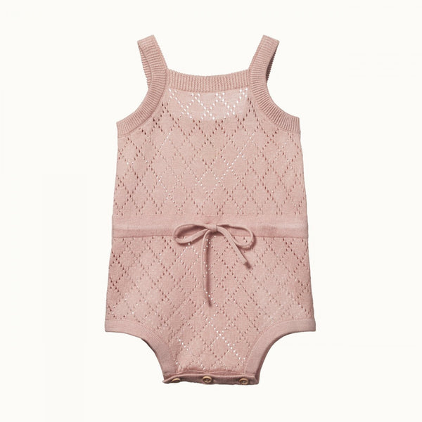 Lois Suit Rose Bud Diamond Knit