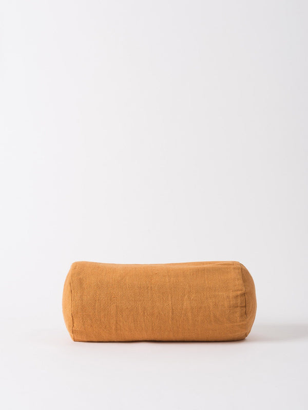 Washed Woven Bolster Cushion Cover Pumpkin