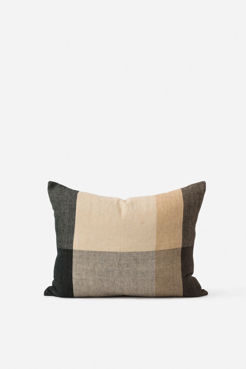Morandi Handwoven Linen Cushion Cover Sultana/Multi  55x45cm