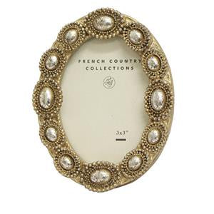 Mini Oval Beaded Frame 2x3""