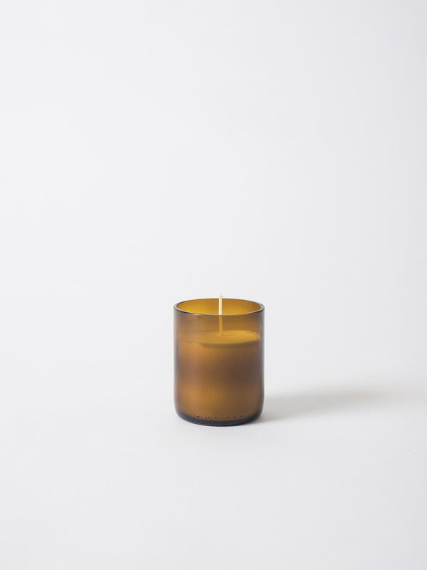 Natura Glass Candle w Soy Wax Brown