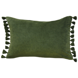 Este Cushion with Polyester Inner - Khaki