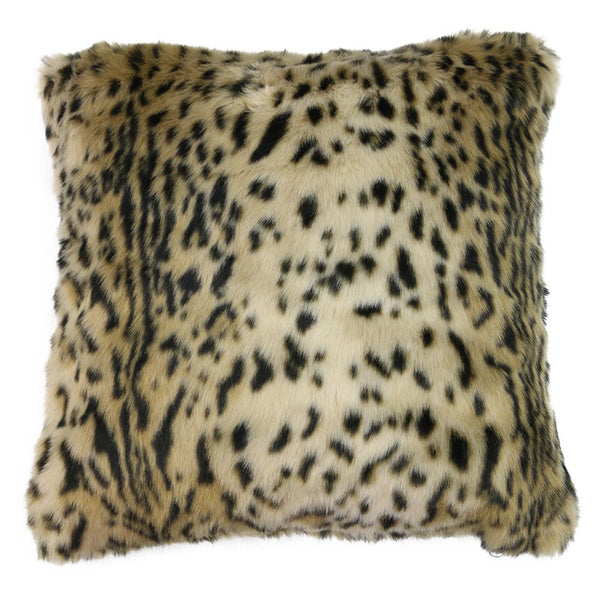Faux Fur Cushion Leo