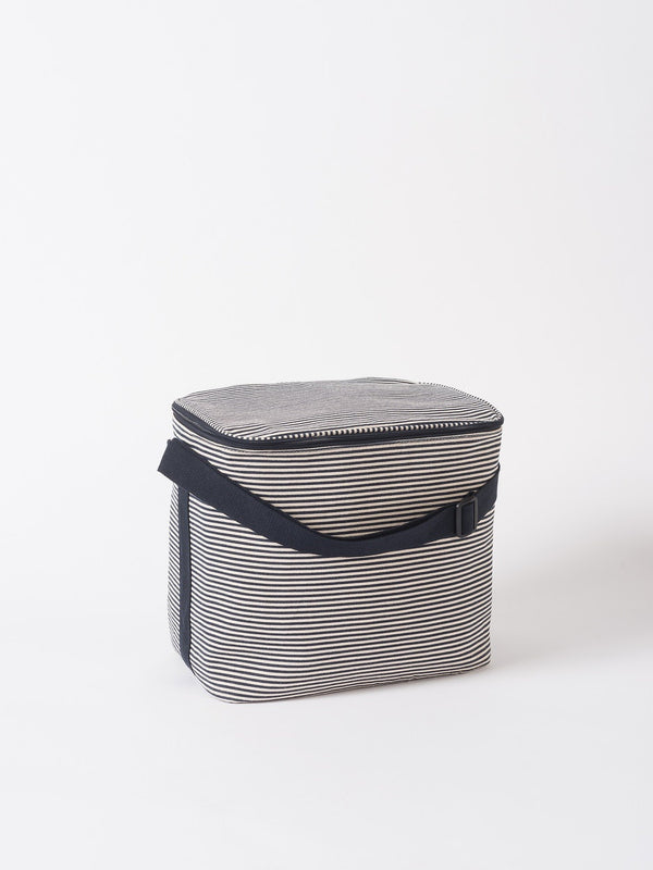 Stripe Cooler Bag Navy/White L