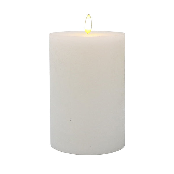 LED Battery Pillar Candle White 10x15cm