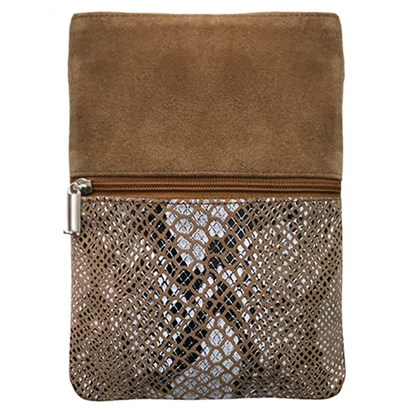Cross Body Bag Tan/Tan Snake