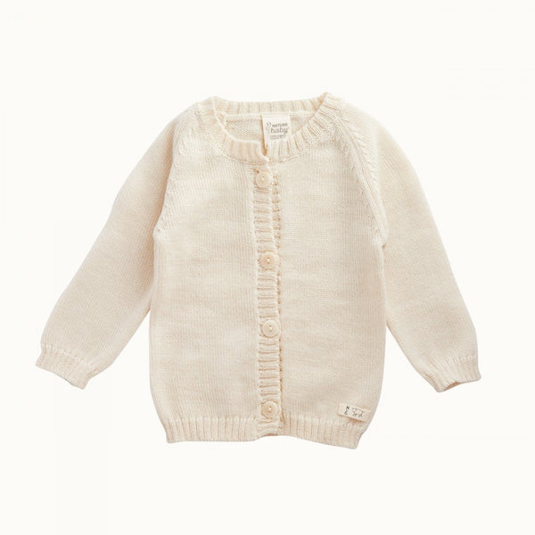 Merino Knit Cardigan Natural 0-3M