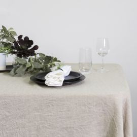 100% Linen Table Cloth Natural 150cmx260cm