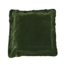Boudoir Green Flange Cushion 45cm