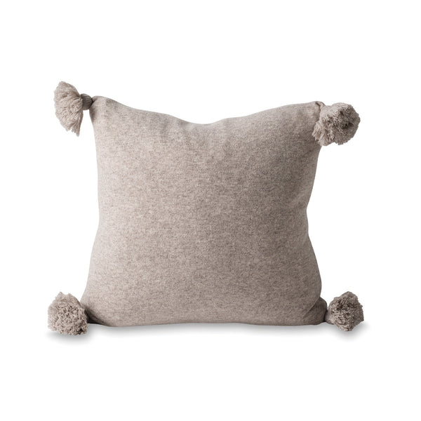 Marl Knitted Wool Blend Cushion Cover Scoria