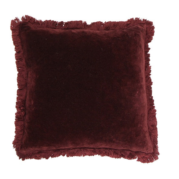 Boudoir Plum Fringed Cushion 45cm