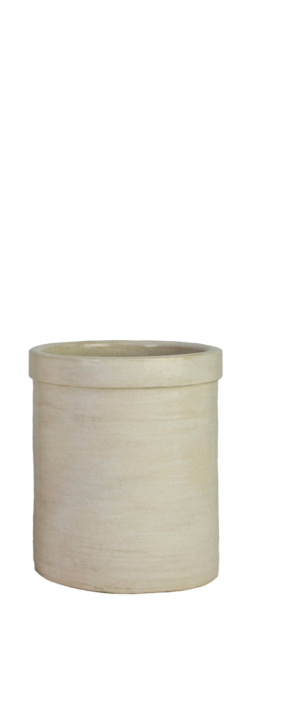 Medium Crock Pot Antique Ivory