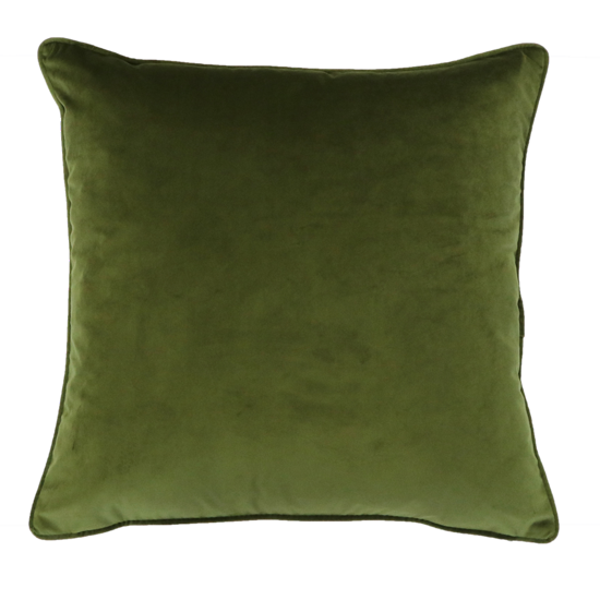 Quattro Cushion with Feather Inner - Olive