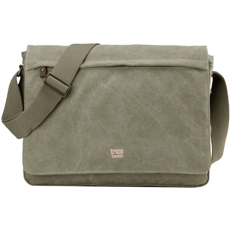 Classic Flap Front Messenger Bag Large - Khaki
