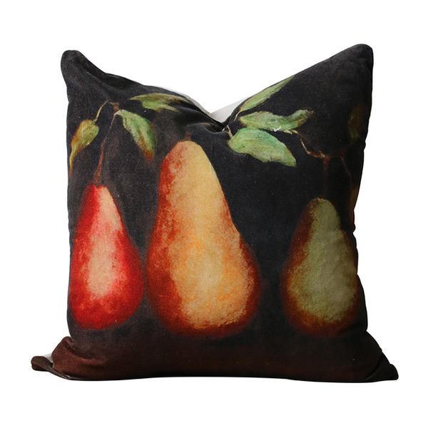 Raphael Vintaged Trois Poire Velvet Cushion Cover