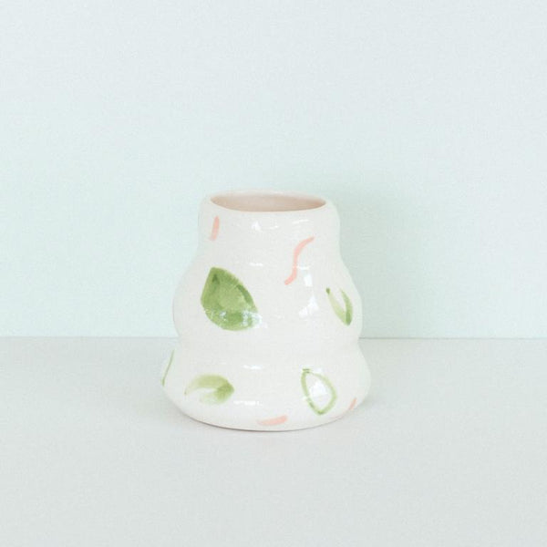 Jungly Wave Vase - Green/Pink/White