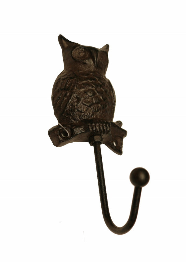 Cast Iron Owl Hook