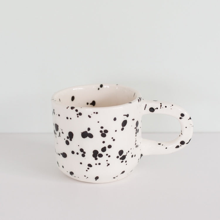 Splatter Mug Black/White