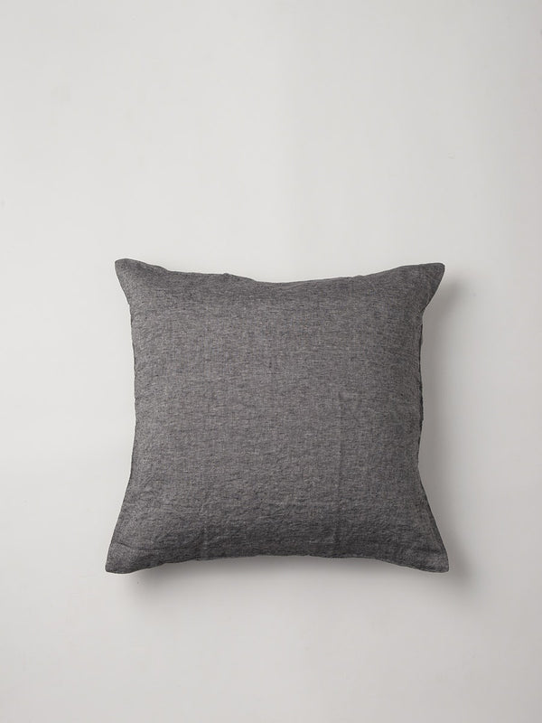 Sove Chambray Linen Euro Pillowcase Charcoal