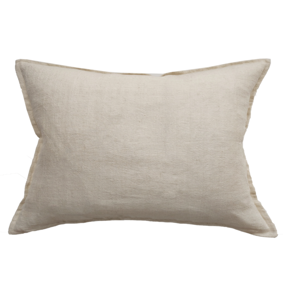 Arcadia Cushion with Feather Inner Almond
