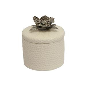 White Flower Trinket Box