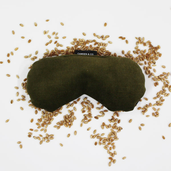 Eye Pillow - Olive Velvet