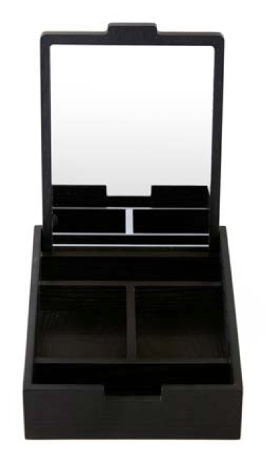 Tokyo Jewellery Box with Mirror Black