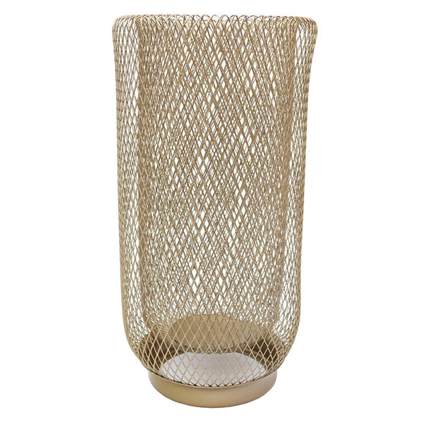 Iron Mesh Lantern Gold Large