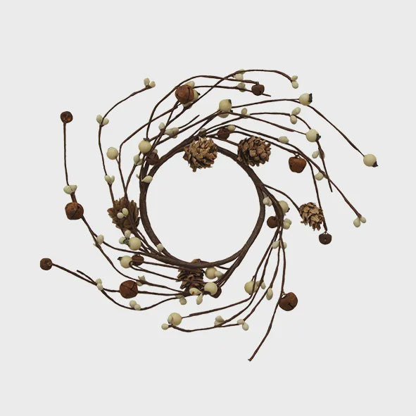 Natural Candle Wreath Medium