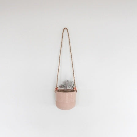 Hanging Planter Half Dipped Pink