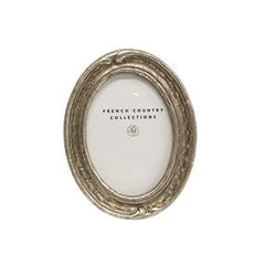 Antique Mini Silver Oval Frame 2x3""