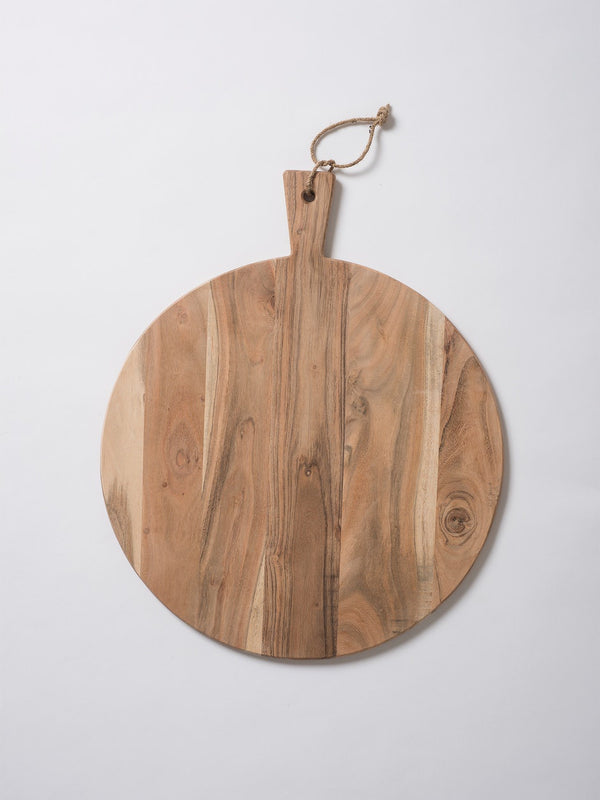 Acacia Round Chopping Board Natural L 50cm