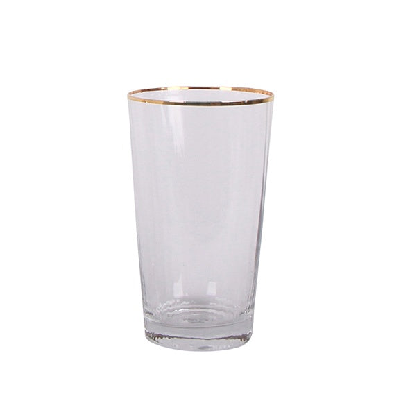 Addie Gold Rim Tumbler Set/4