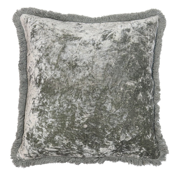 Grace Velvet Cushion - Vintage Green